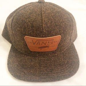 Vans   Brown Tweed Hat Vans Since 1966
